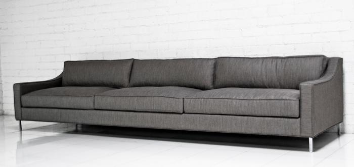 Lautner Sofa in Charcoal Tweed