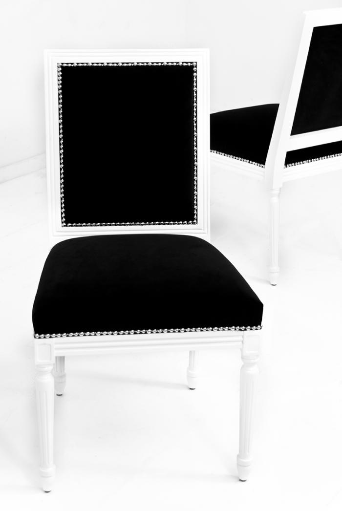 www.roomservicestore.com - Bordeaux Dining Chair in Black Velvet