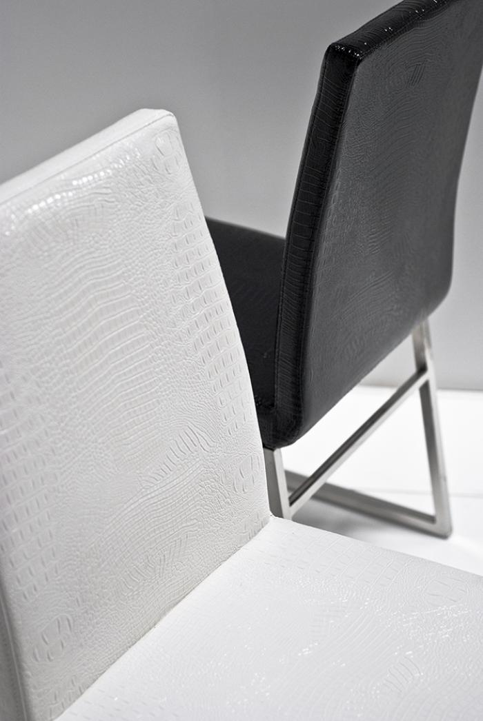 Black and White Croc Dining Chairs
