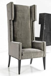 Tangier Wing Dining Chair in Brussels Charcoal