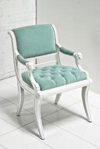 Edward Chair in Aqua Velvet