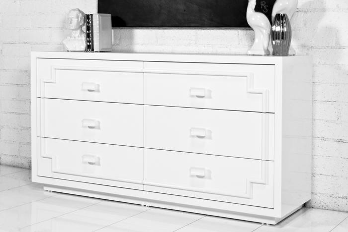 Bel Air Dresser in White Lacquer