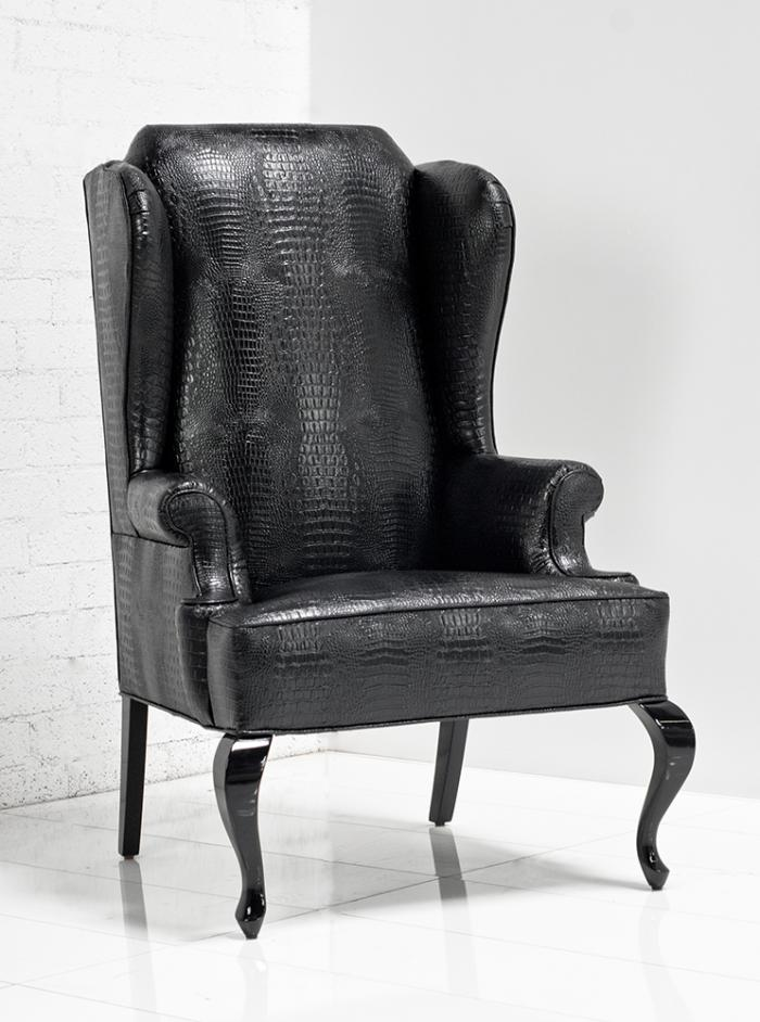 Www Roomservicestore Com Brixton Wing Chair In Black