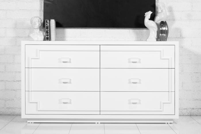 Bel Air Dresser in White Lacquer. Please visit the new ModShop Website  modshop1.com to order any of our products,