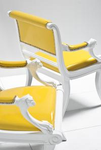 Edward Chair in Faux Yellow Patent Leather
