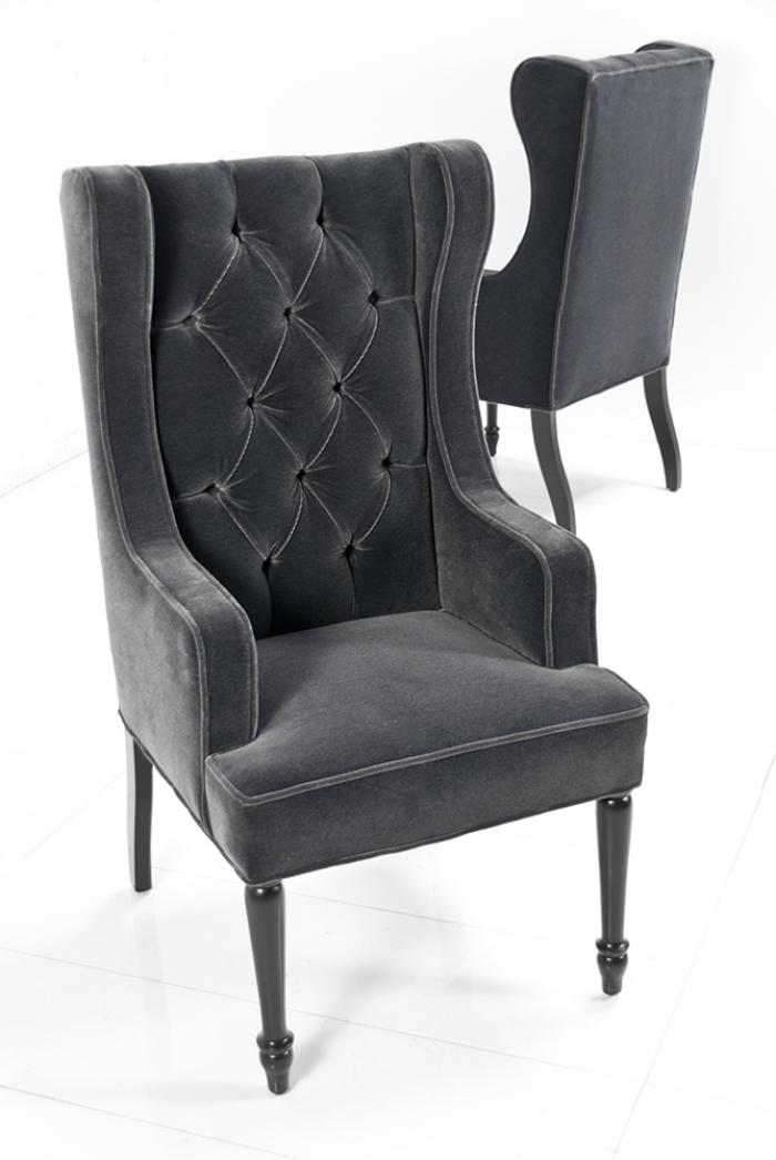 Dining wing chair jacqueline hostess wing back for Wing back dining chairs
