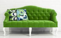Mademoiselle Sofa in Poison Green Velvet