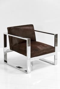 Fat U-Leg Chair in Chocolate Cowhide