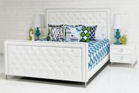 Palm Beach Bed in Ford White Faux Leather