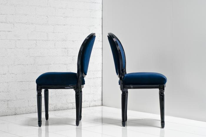 Www Roomservicestore Com Louis Dining Chair In Navy And