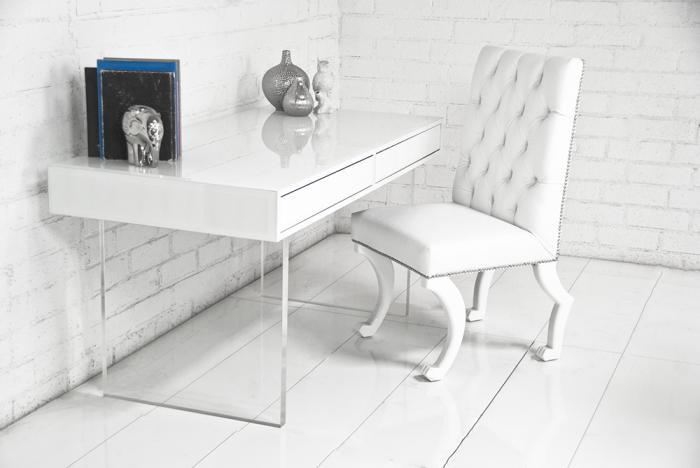 Www Roomservicestore Com London White Starfire Glass Desk