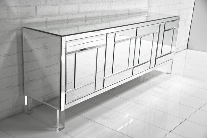 A Graphic Light Box And A Mid Century Dresser Turning The: All Mirror Mondiran Credenza