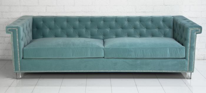 Www Roomservicestore Com Sinatra Sofa In Aqua Velvet