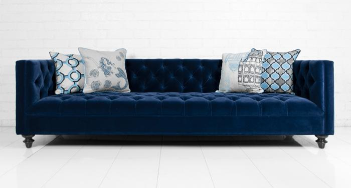 awesome collection of velvet blue sofa