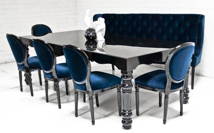 wwwroomservicestorecom Bel Air Dining Table in High Gloss Black
