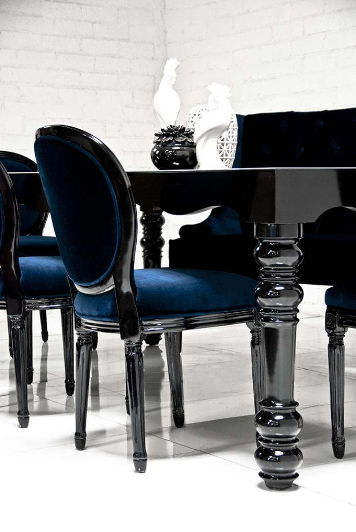 Bel air dining table in high for Black dining table