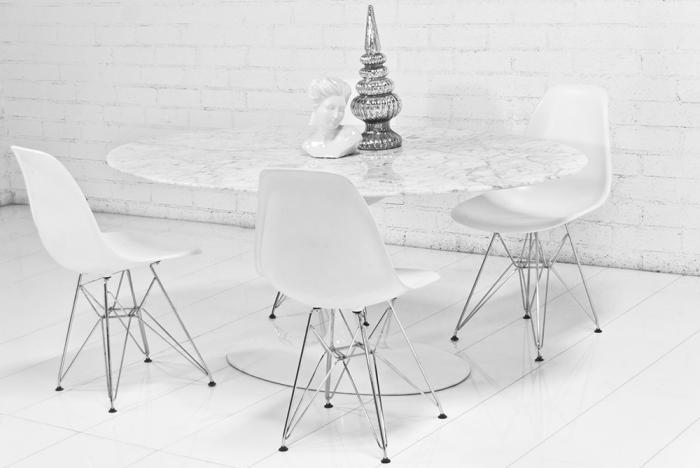 Wwwroomservicestorecom Oval Italian Carrara Marble Tulip - Black marble tulip dining table