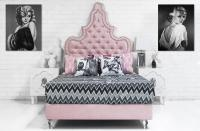Tangier Bed in Majestic Pink Lady Velvet