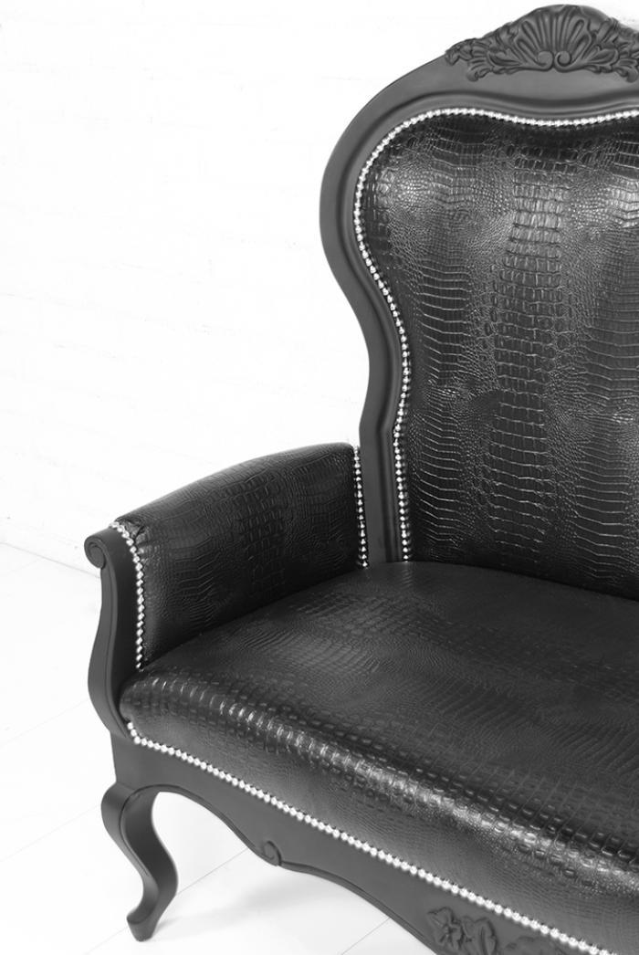 Matte black framed riviera for Black chaise lounger
