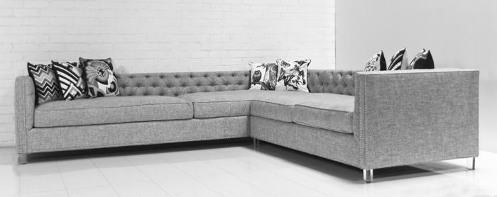 New Deep Sectional in Zuma Pumice