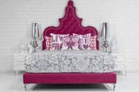 Tangier Bed in Hot Pink Velvet