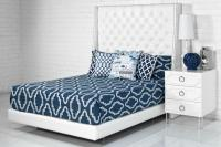 St. Tropez Bed in Ford White Faux Leather