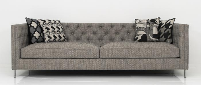 007 Sofa in Delight Palladium Textured Linen