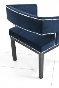 Open Back Chair in Navy Velvet