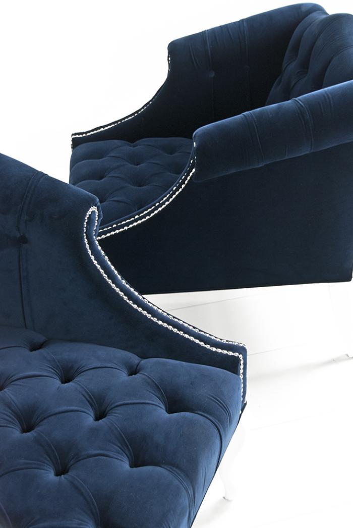 Www Roomservicestore Com Mademoiselle Chair In Navy Velvet