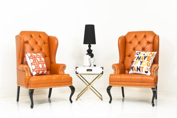 www brixton wing chair in hermes orange faux