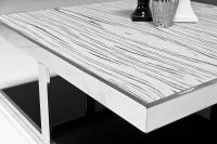 Milan White Macassar Coffee Table