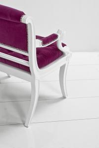 Edward Chair in Pink Velvet