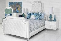 The Lolita Bed in Ford White Faux Leather