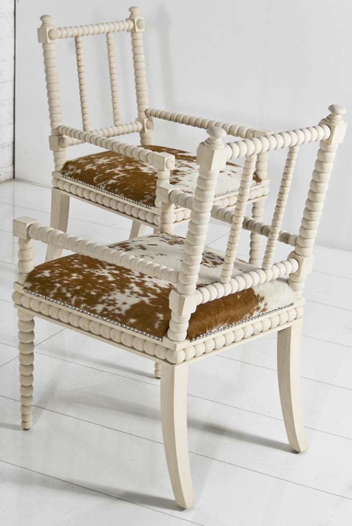acapulco cowhide dining chair
