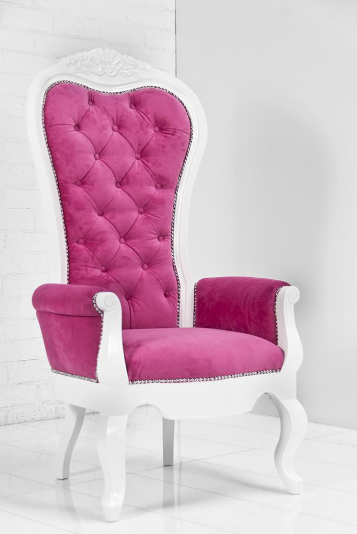 Riviera Wing Chair in Pink Velvet