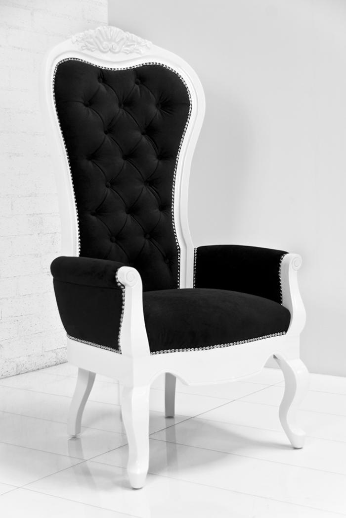 Riviera Wing Chair In Black Velvet