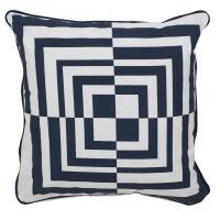 Optical Square Navy & White