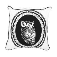 Owl Cameo Black & White