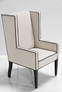 Mod Wing Dining Chair in Cream Linen