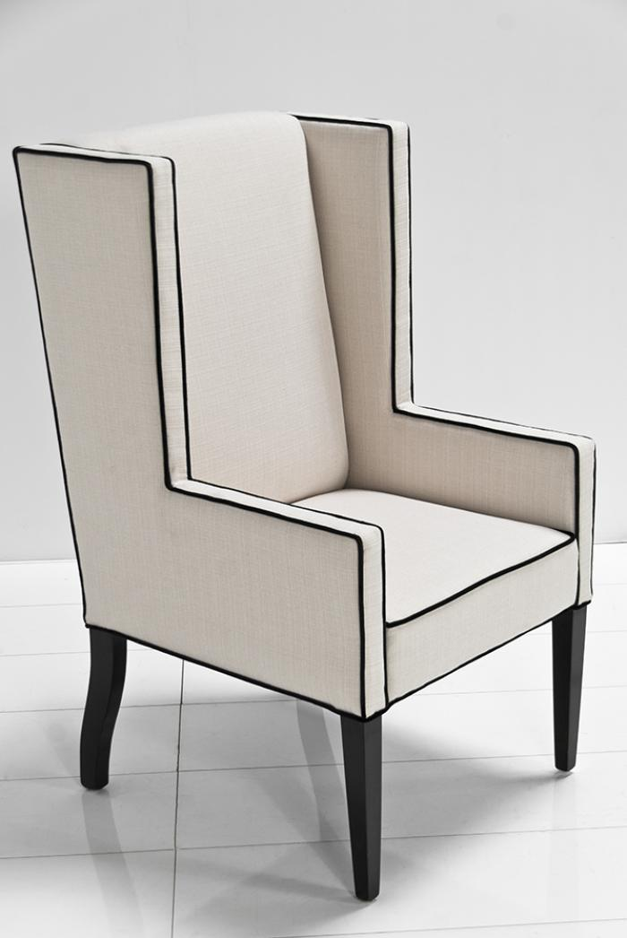 Genial Mod Wing Dining Chair In Cream Linen