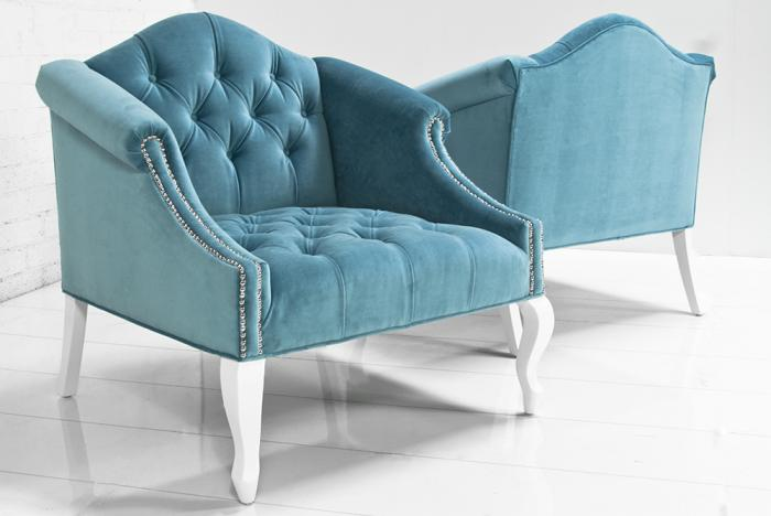 Mademoiselle Chair in Turquoise