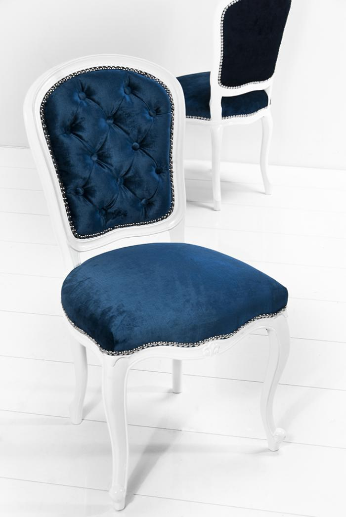 Navy blue and white chair home ideas for Blue and white dining chairs