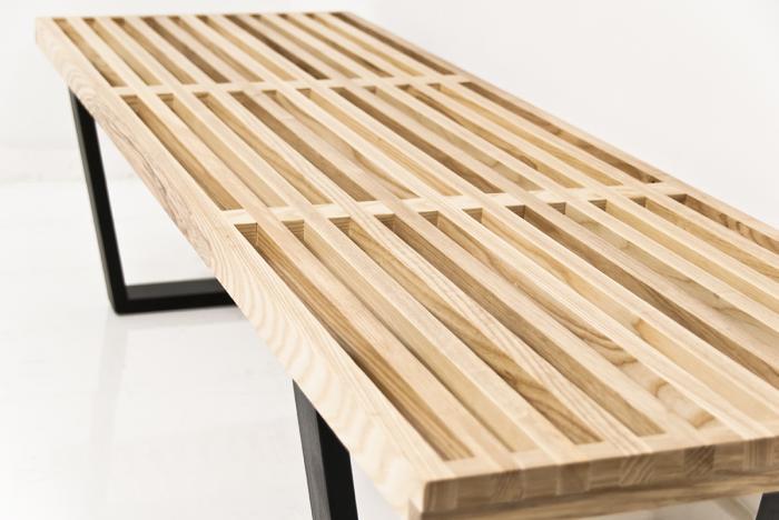 www.roomservicestore.com - The Slatted White Oak Indoor Bench