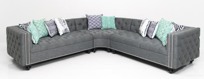 Inside Out Curved James Sectional in Key Largo Ash Linen