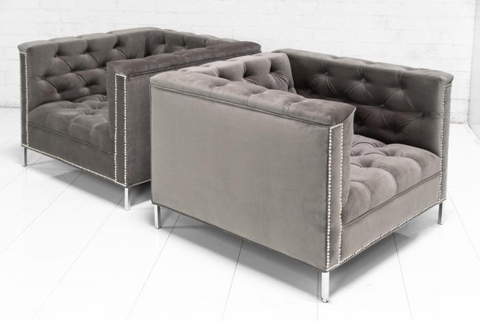 Hollywood Chairs In Charcoal Velvet
