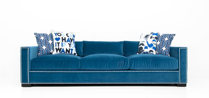 Shoreclub Sofa in Como Cyan Velvet