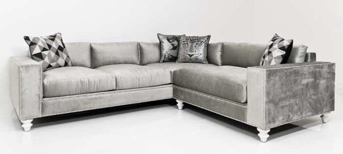 Silver Sectional Sofa Silver And Grey Couch Mulberry