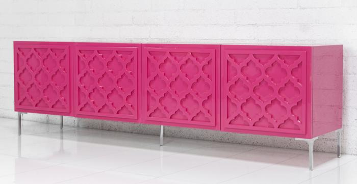Tangier Credenza In Hot Pink