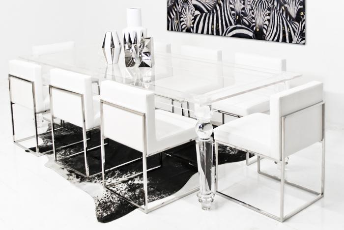 wwwroomservicestorecom Lucite Bel Air Dining Table