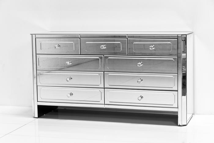 Regency All Mirror 9 Drawer Dresser